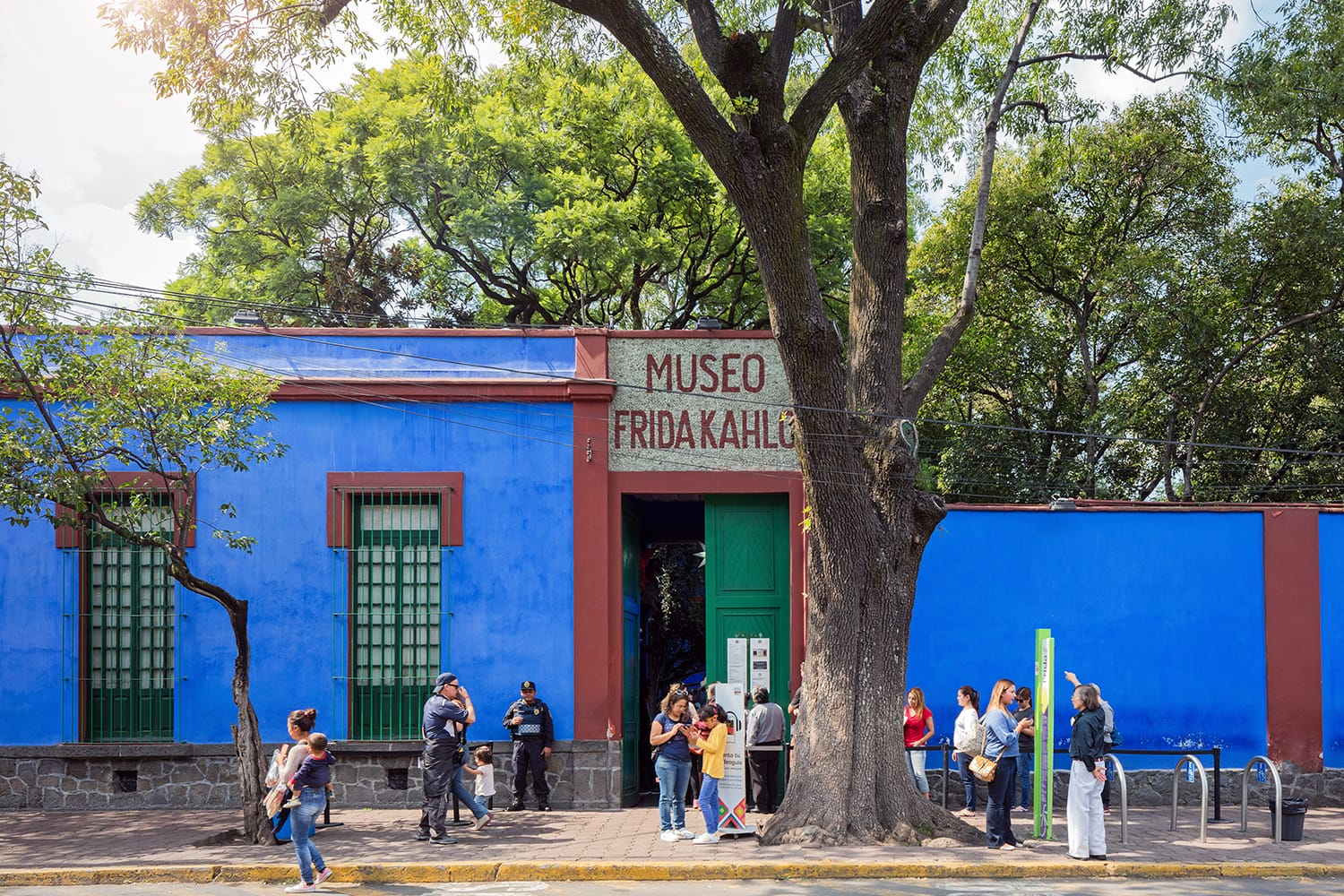 Blue House (La Casa Azul), historic house and art museum dedicated to the life and work of Mexican artist Frida Kahlo. Mexico City.