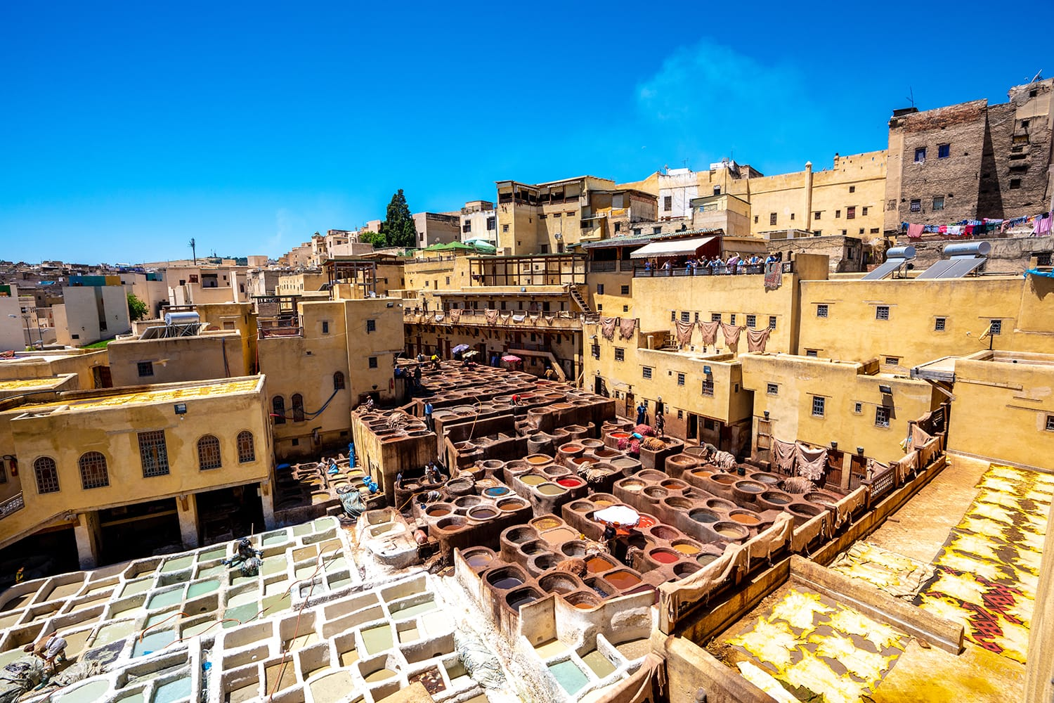 Leather tanneries in Fez, Morocco