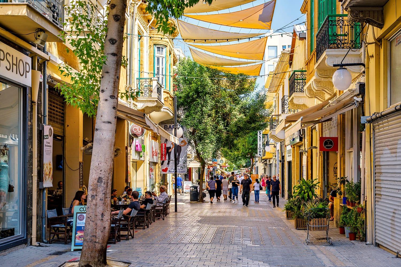 Ledra Street in Nicosia, Cyprus