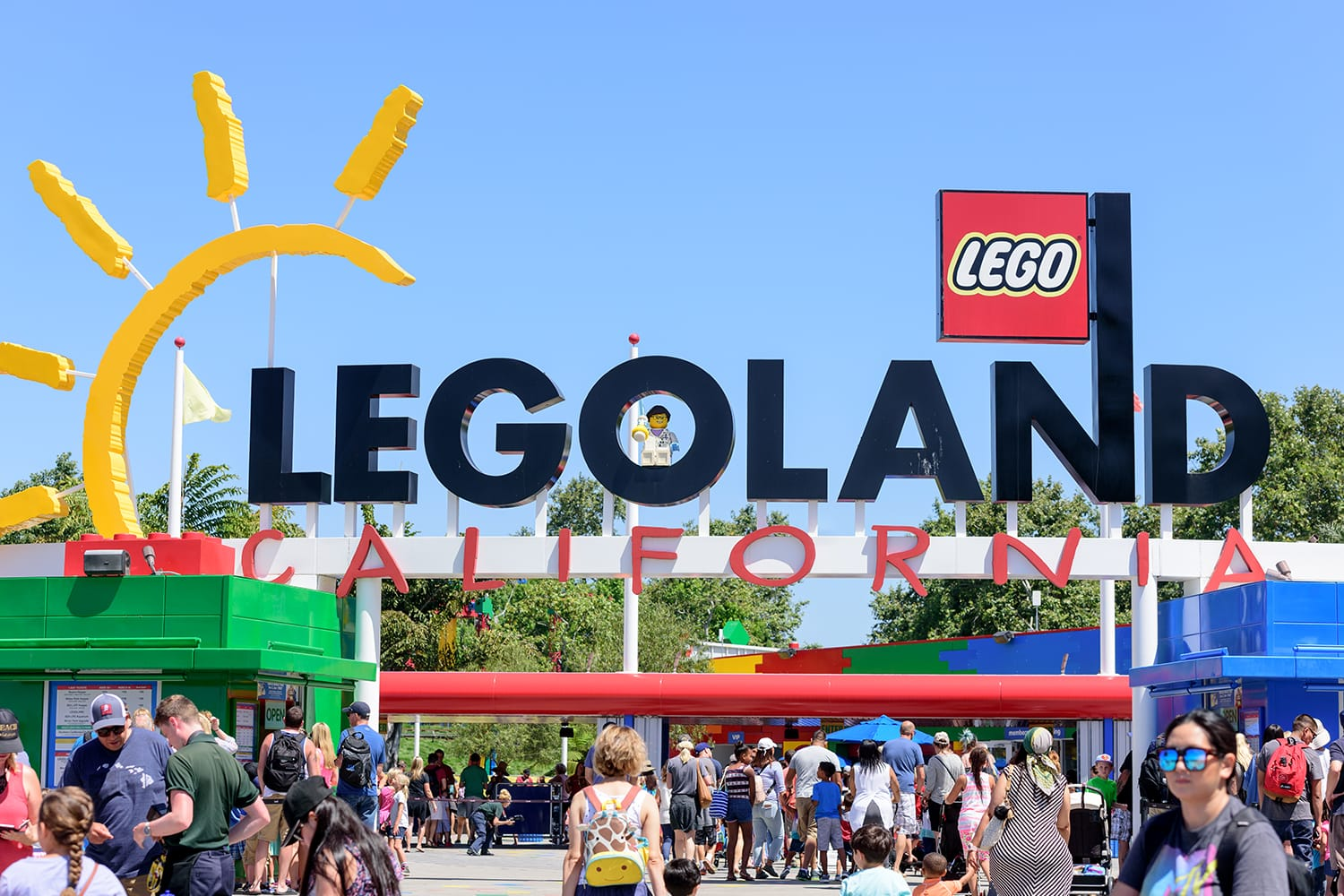 People from all over he world visiting Legoland theme park located in Carlsbad, California, USA