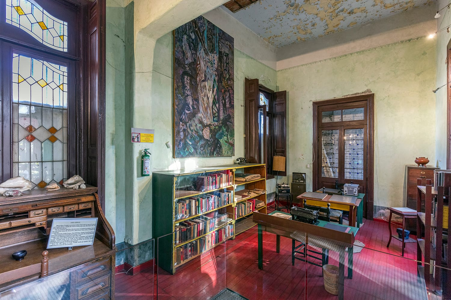 Inside the Leon Trotsky Museum in Mexico City