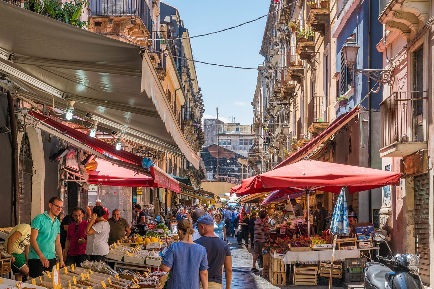The colorful and vivid market of Catania, Italy