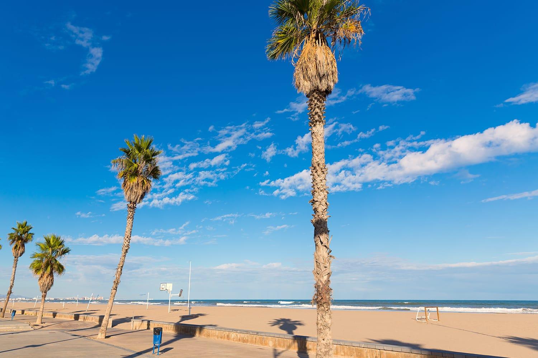 Malvarrosa Las Arenas beach in Valencia
