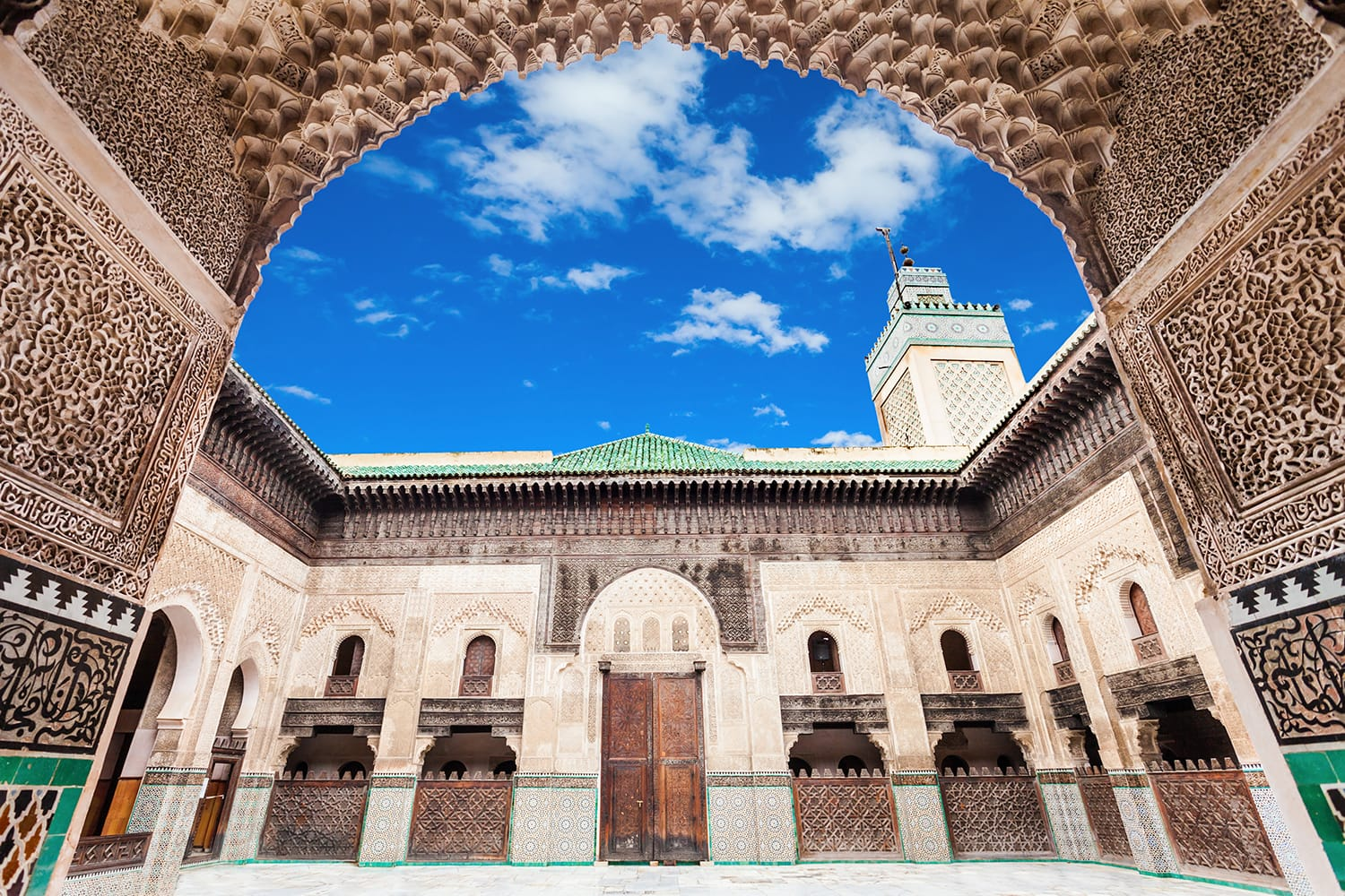The Medersa Bou Inania is a madrasa in Fes, Morocco