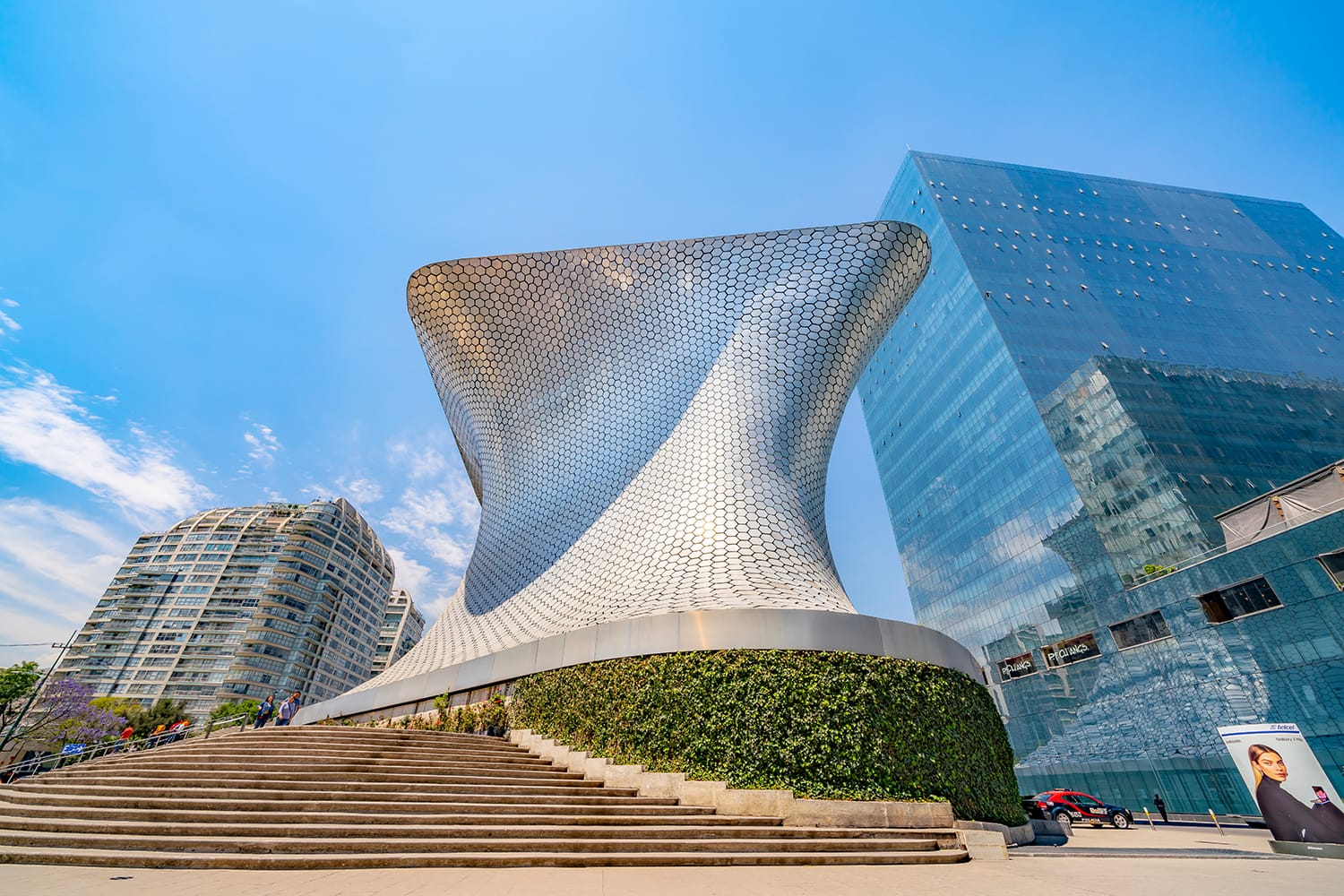 The Museo Soumaya is a private museum in Mexico City