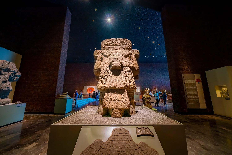 The National Museum of Anthropology (Museo Nacional de Antropología) in Mexico City