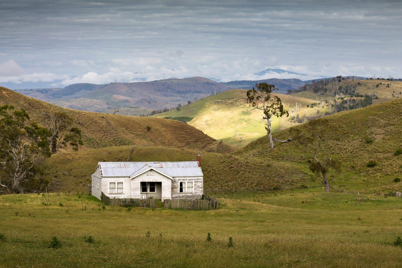 Old farm house in Tasmania, Australia