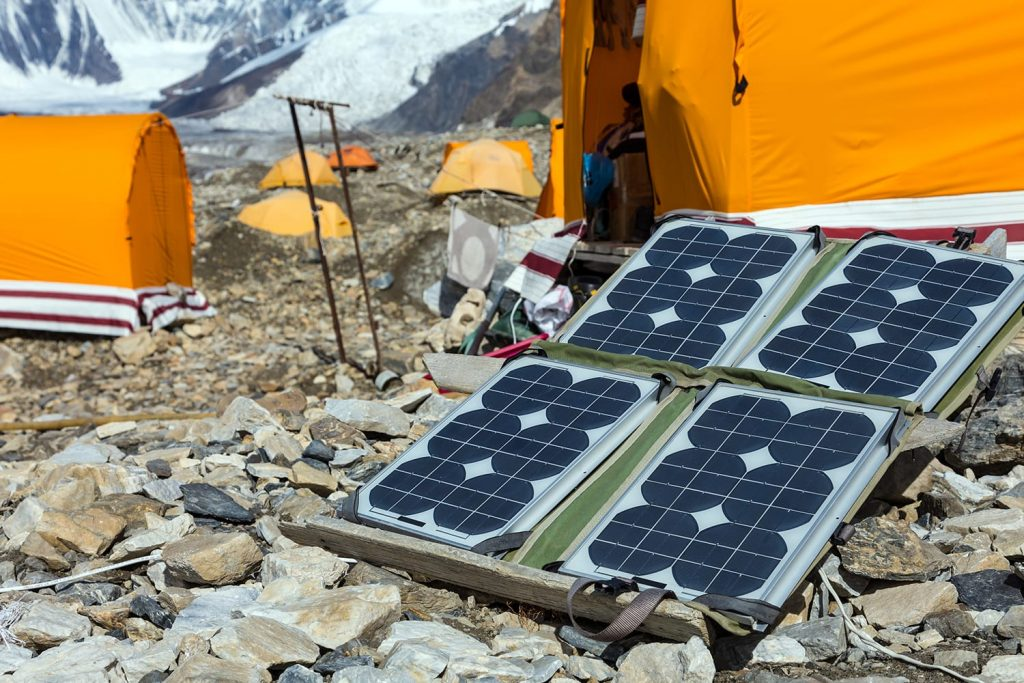 Portable solar panels for camping