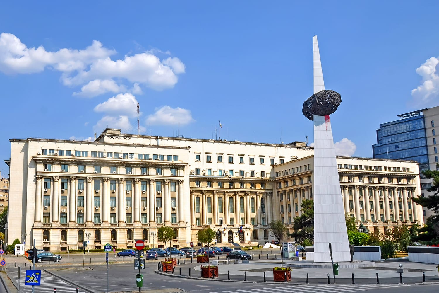 Revolution Square in Bucharest, Romania