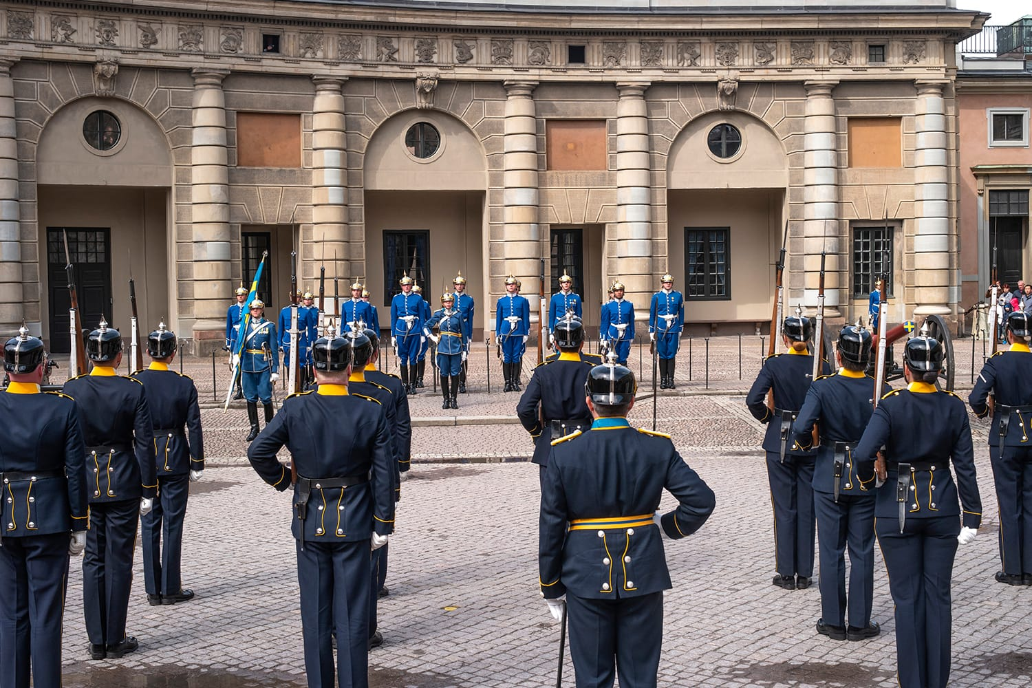 The Royal Guards Ceremony at the Royal Palace of Stockholm, Sweden