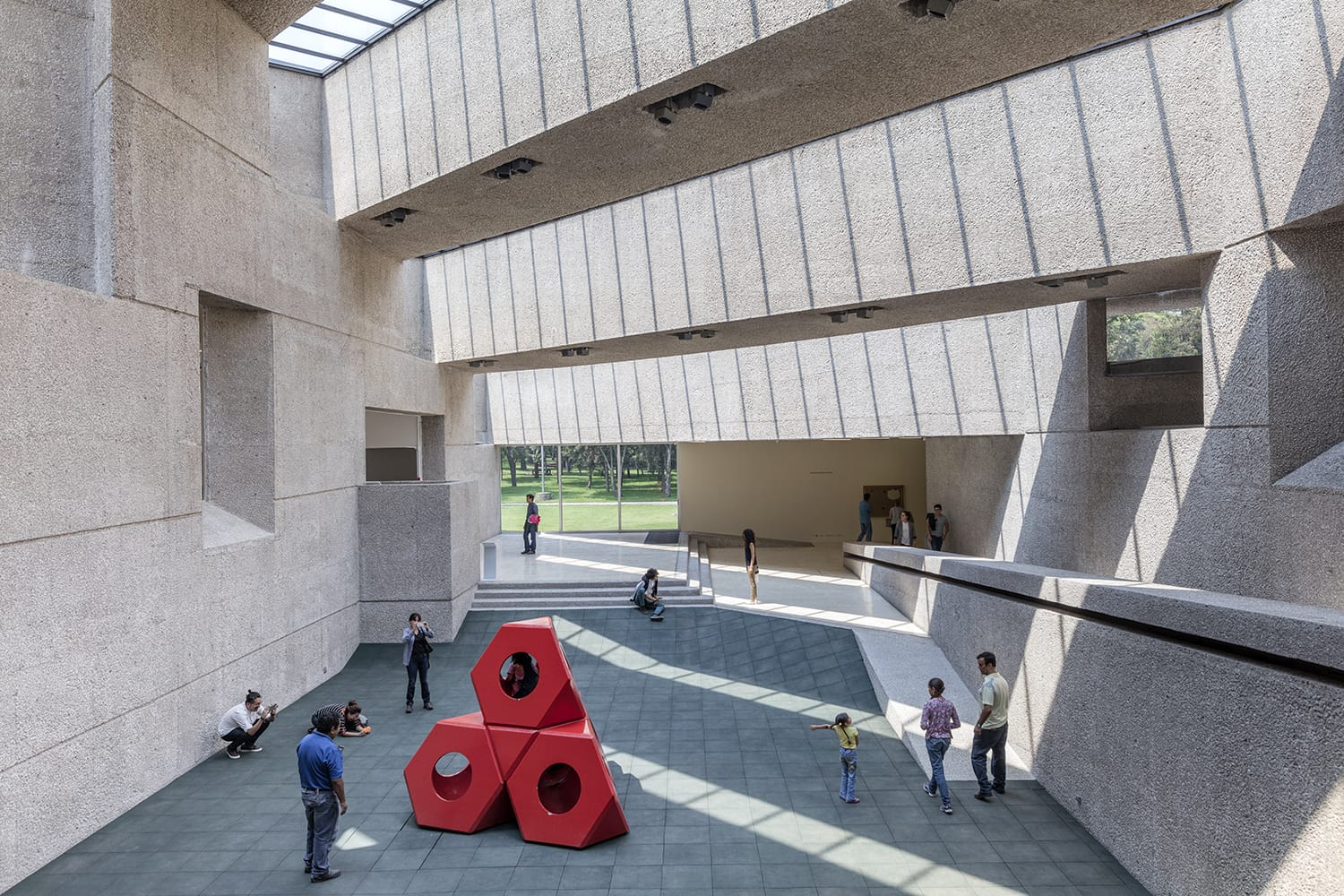"Interior of the ""Rufino Tamayo Museum"" in Mexico City a museum of modern art located in Chapultepec park."