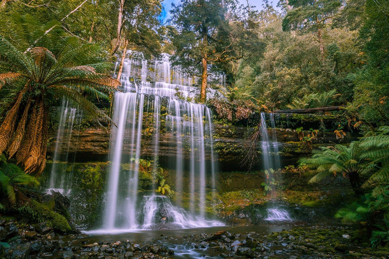 Beautiful Russell Falls, Mount Field National Park, Tasmania, Australia