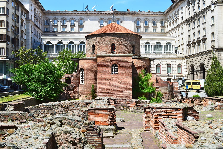 Saint George Rotunda among the ruins of the ancient town of Serdika, Sofia City, Bulgaria