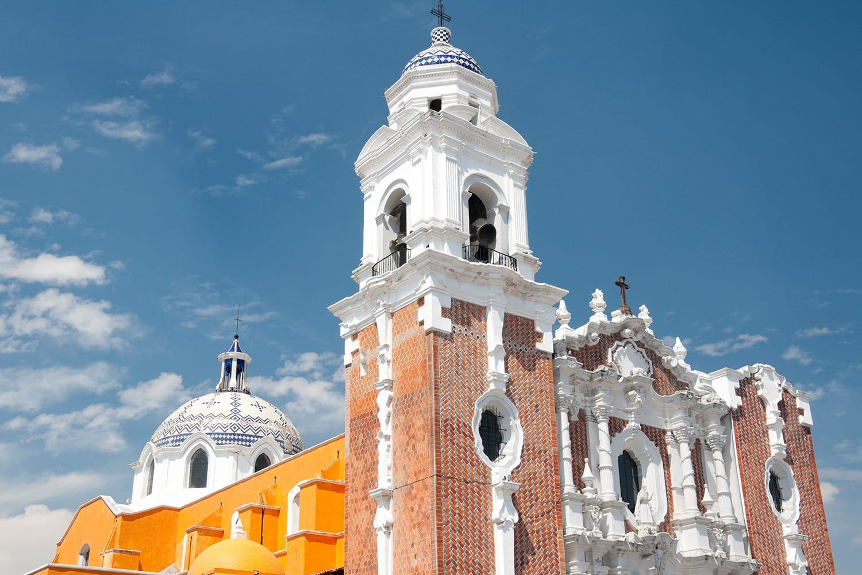 San Jose church in Tlaxcala, Mexico