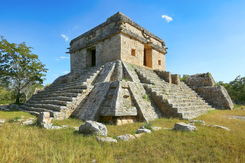 Seven Dolls temple in Dzibilchaltun, Yucatan, Mexico