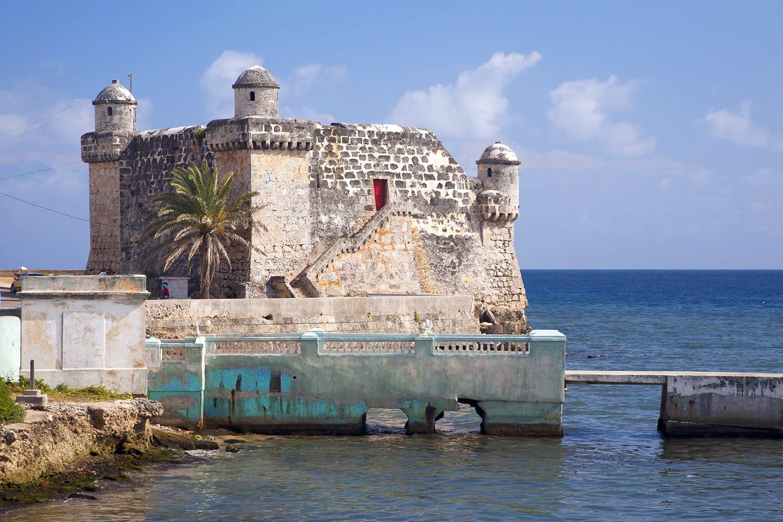 The Spanish fort, Torreon de Cojimar, in Cohimar, Cuba