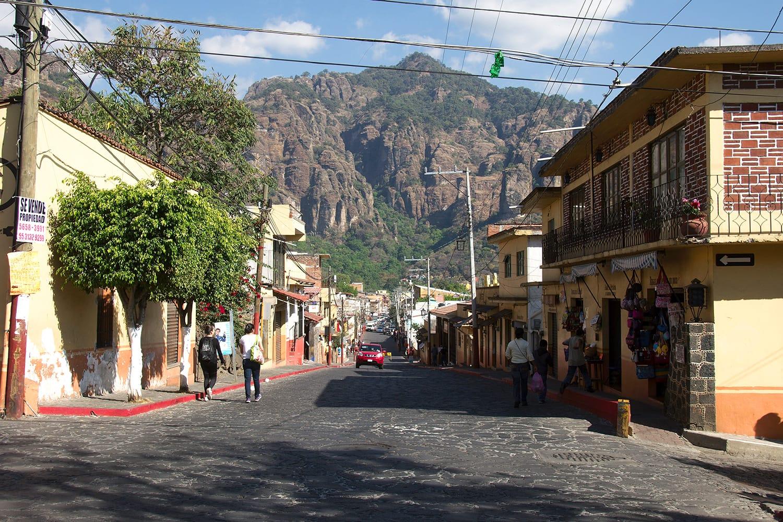 Street in Tepoztlan, Morelos, Mexico