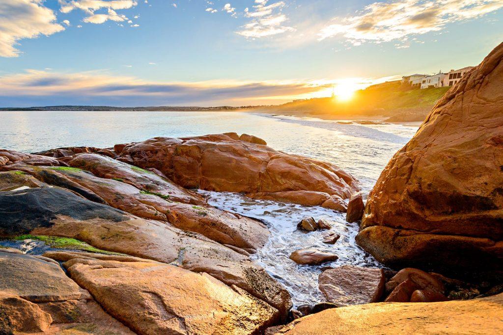 Picturesque sunset at Port Elliot, Horseshoe Bay, South Australia