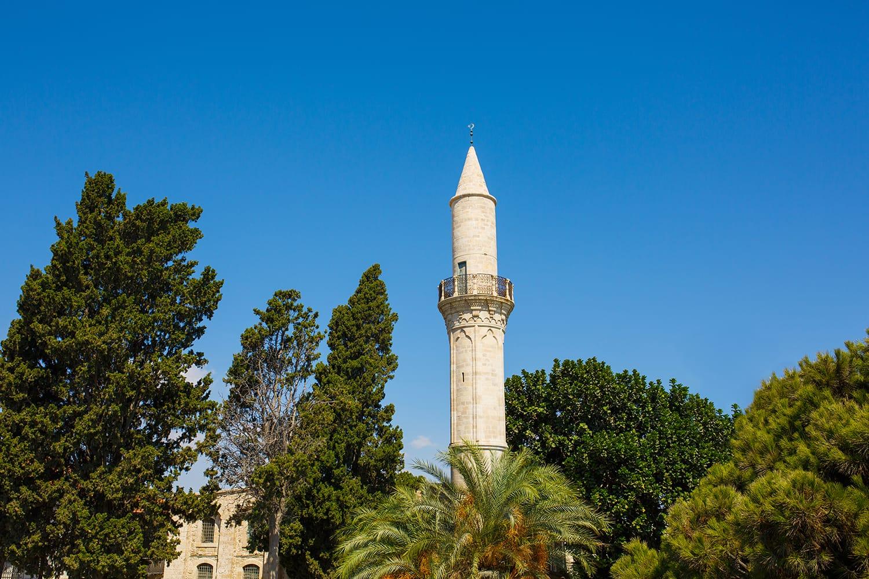 Touzla Mosque (Djami Kebir Mosque Minaret, Buyuk Cami, Cami Kebir) in Larnaca, southern Cyprus