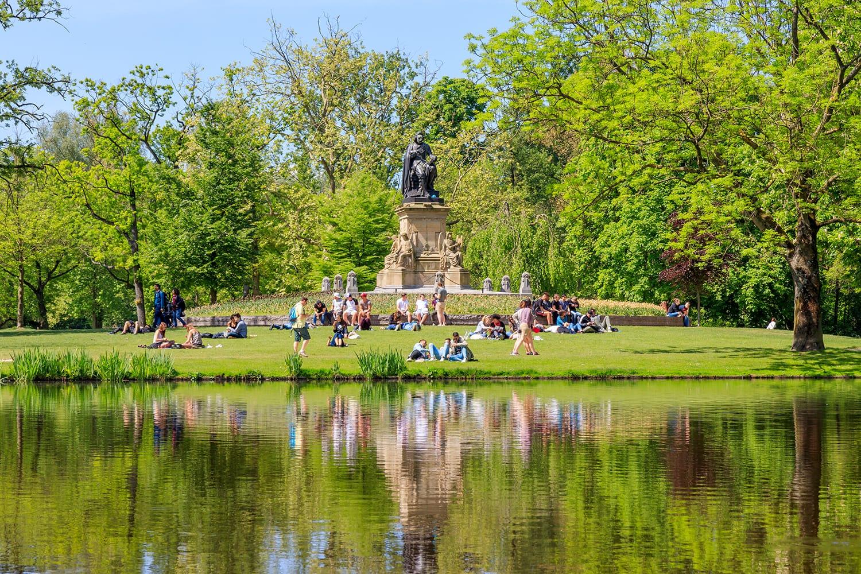 Vondelpark in Amsterdam, Netherlands