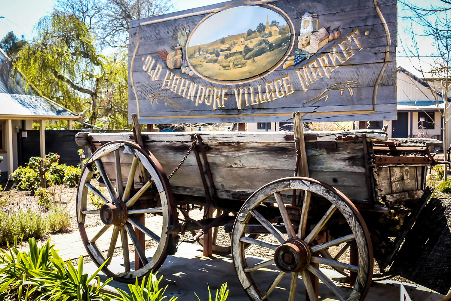 Old wooden cart in Hahndorf, Adelaide Hills, South Australia