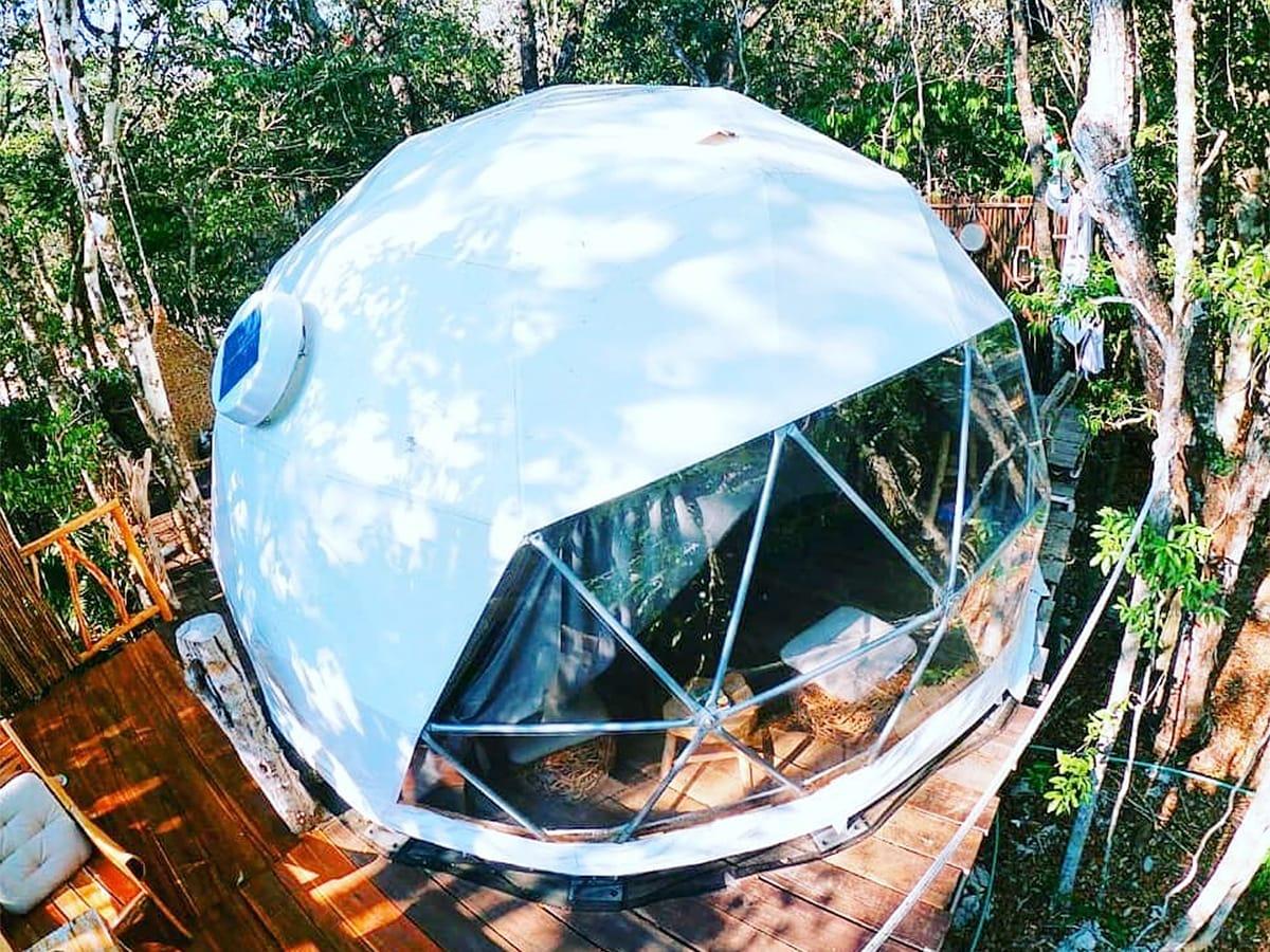Eco dome Airbnb in Tulum, Mexico
