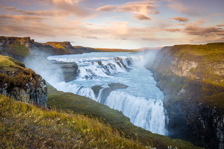 Gullfoss waterfall in Iceland