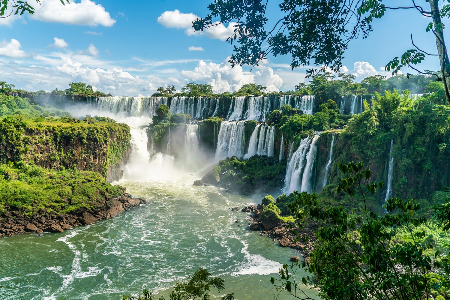 Part of The Iguazu Falls seen from the Argentinian National Park, South America