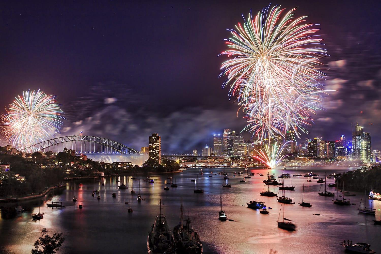 Fireworks on New Years Eve in Sydney, Australia