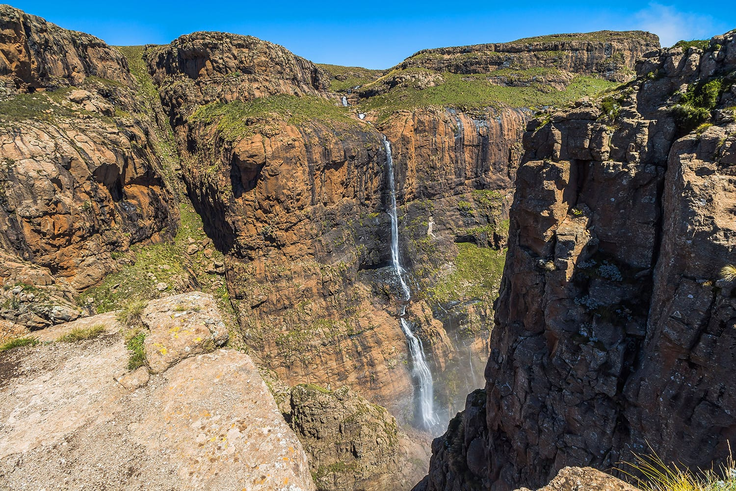 Tugela Falls at the top of Sentinel Hike, Drakensberge, South Africa
