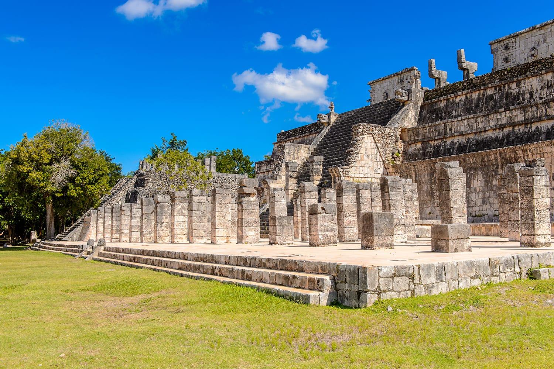 Ruins at Chichen Itza in Mexico
