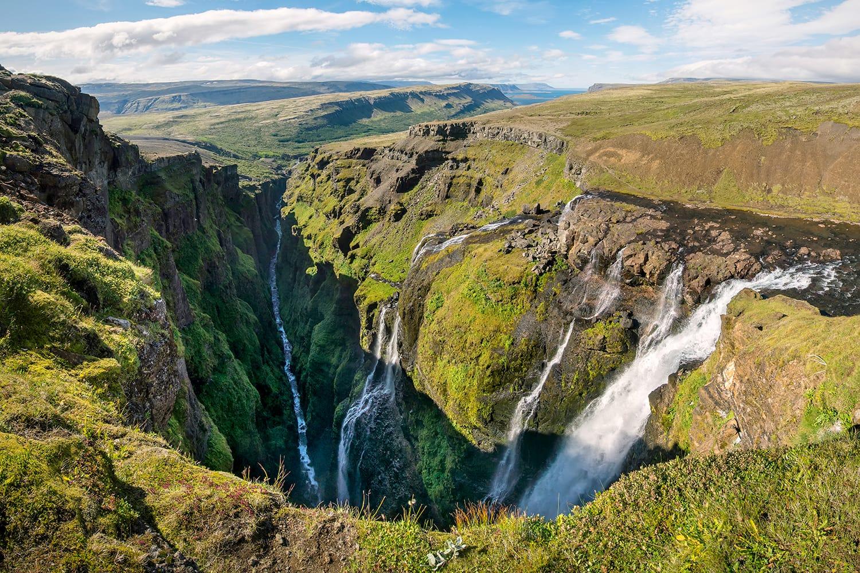 Glymur waterfalls in Iceland