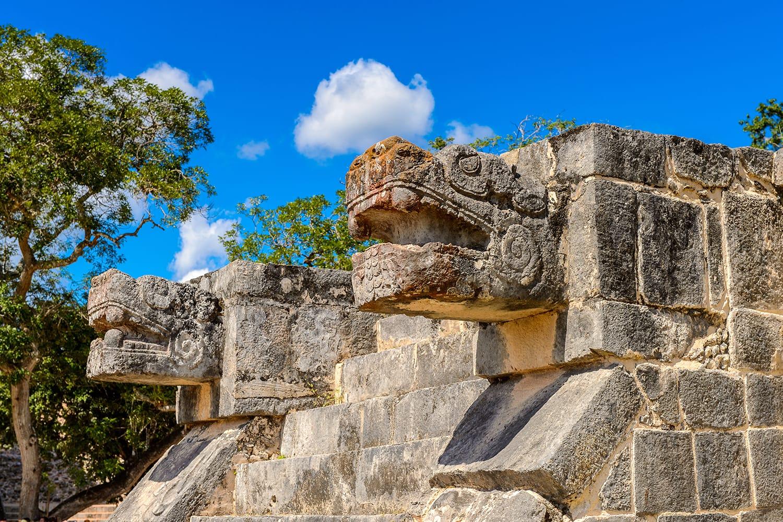 Plumed Serpent, Venus Platform, Chichen Itza, Mexico