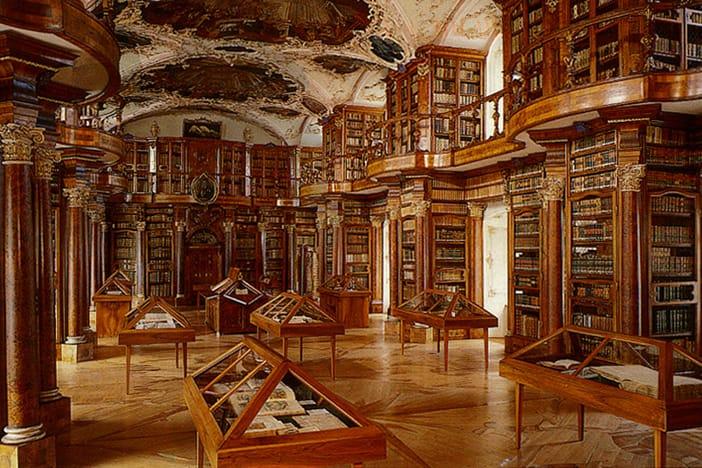 Abbey Library Saint Gall in Austria