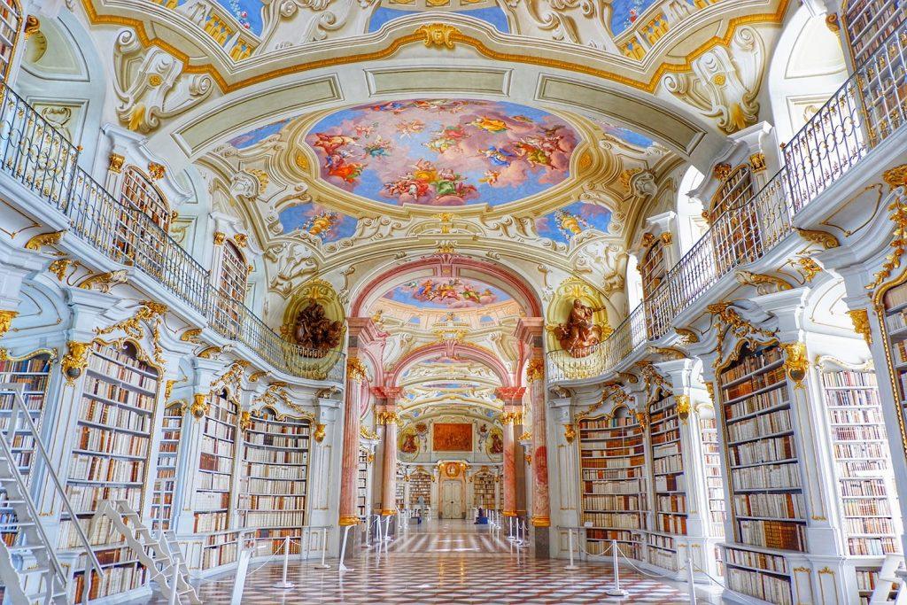 The Library of the Benedictine Monastery in Admont, Austria