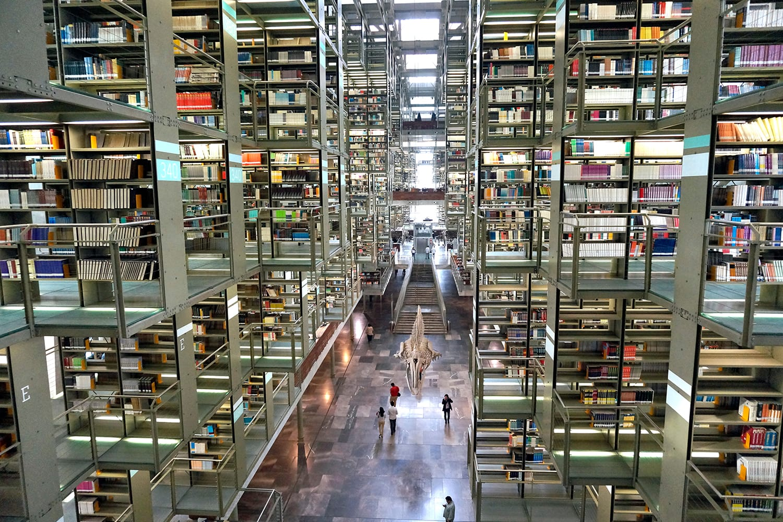 Biblioteca Vasconcelos in Mexico City, Mexico