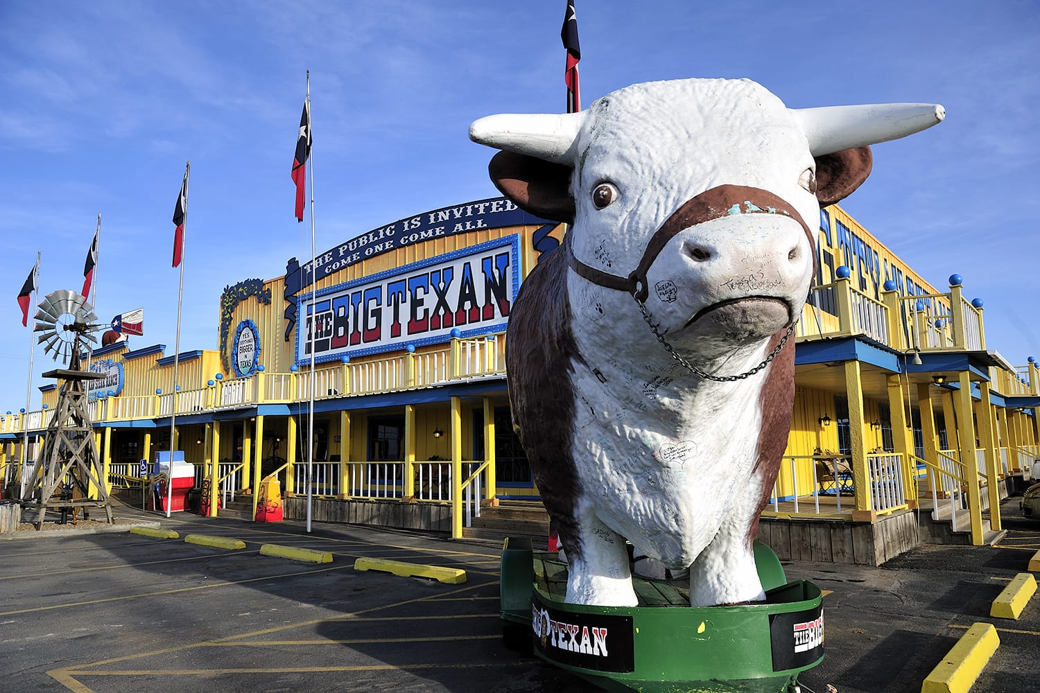 Big Texan Steak Ranch, famous steakhouse restaurant and motel located in Amarillo, Texas, which opened on the previous U.S. Route 66