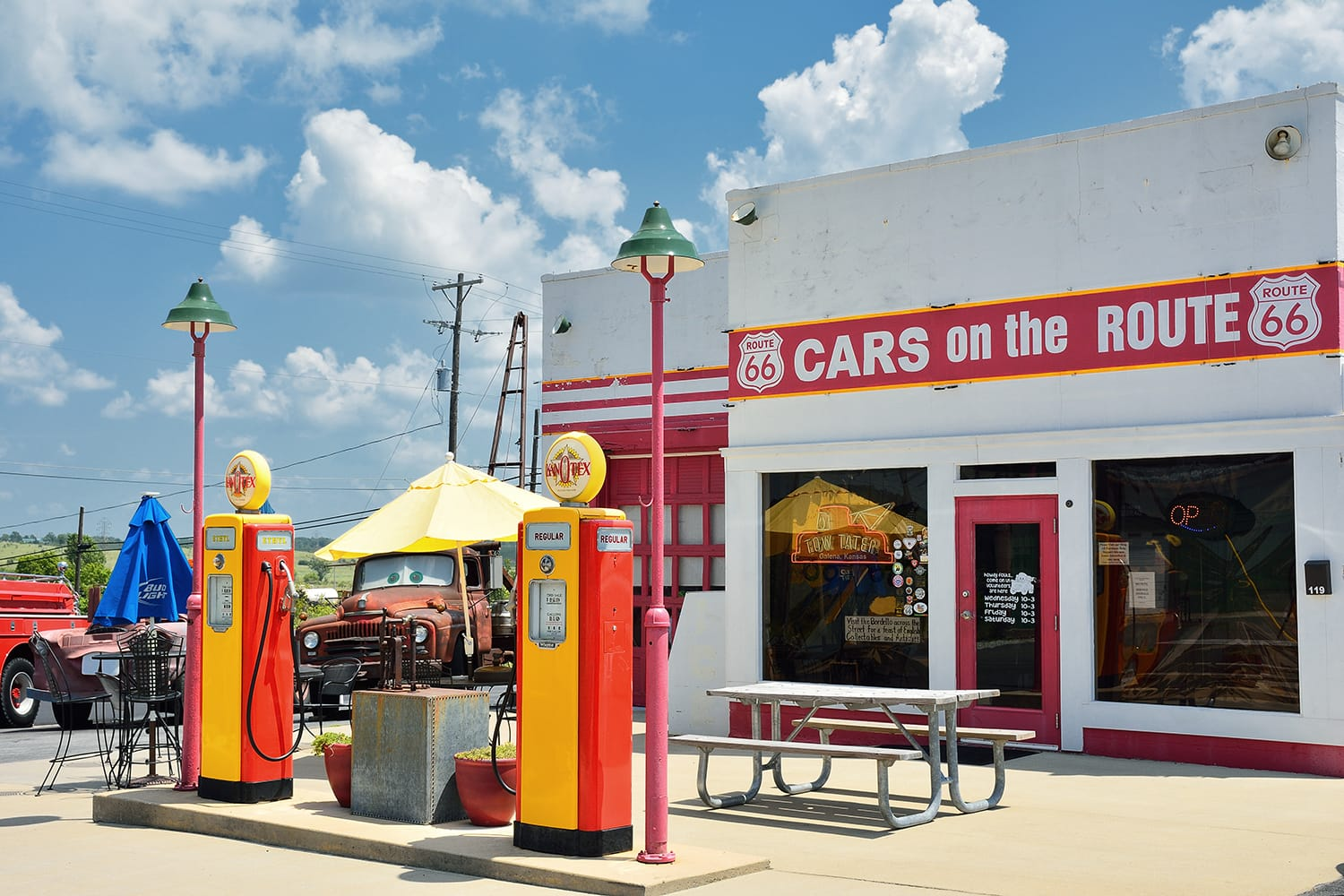 Cars on the Route in Galena, Kansas is a fun stop on Old US Highway 66