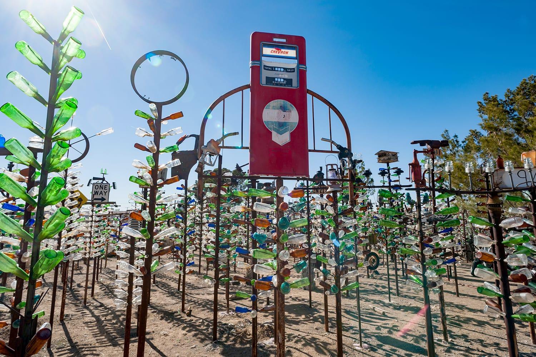 Elmer Long's Bottle Tree Ranch on route 66 in the Mojave desert in California