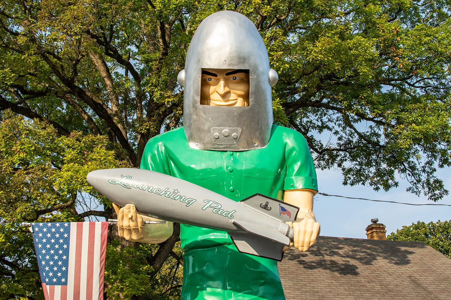 The Gemini Giant roadside attraction along the historic Route 66 in Wilmington, Illinois