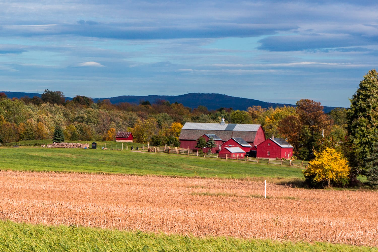Farm on Grand Isle, one of the Lake Champlain Islands in Vermont, USA