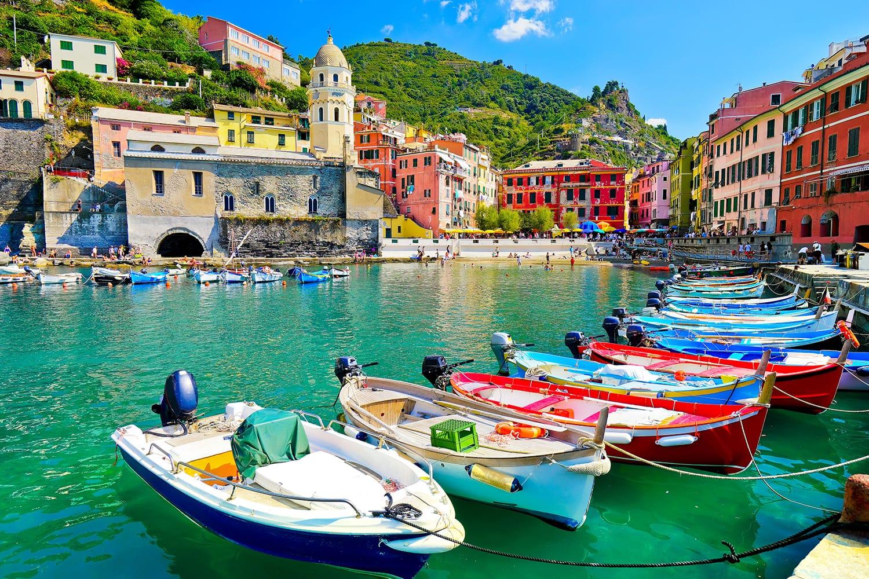Harbor in Vernazza, Cinque Terre, Italy