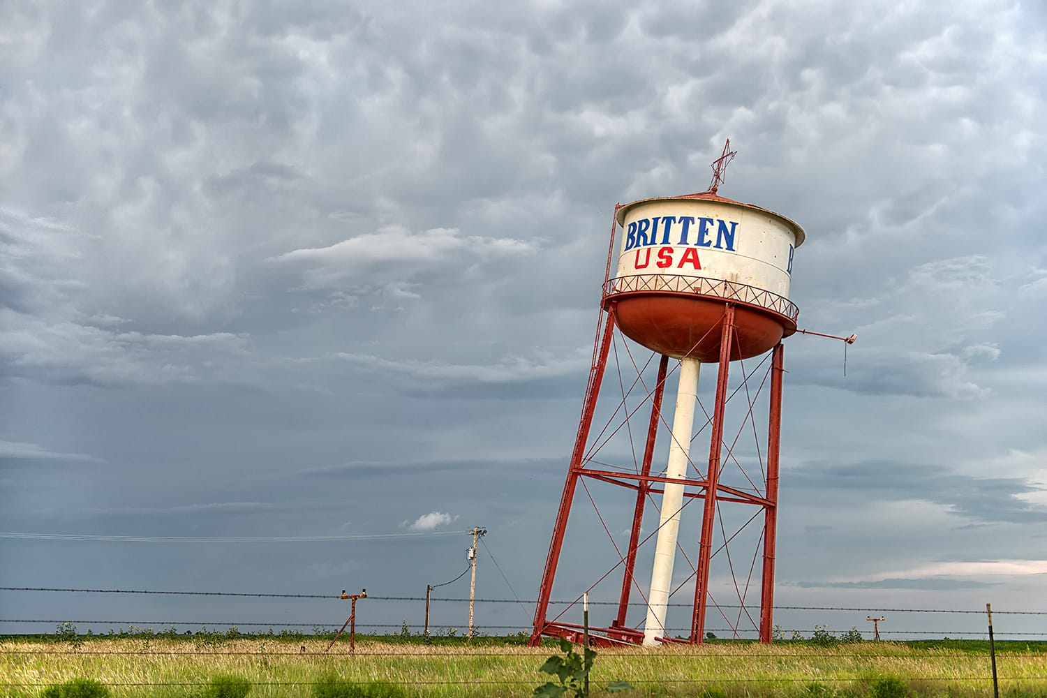 Leaning Water Tower of Texas. Famous attraction on Route 66