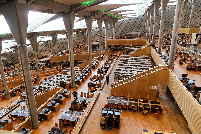 Library of Alexandria in Alexandria City, Egypt