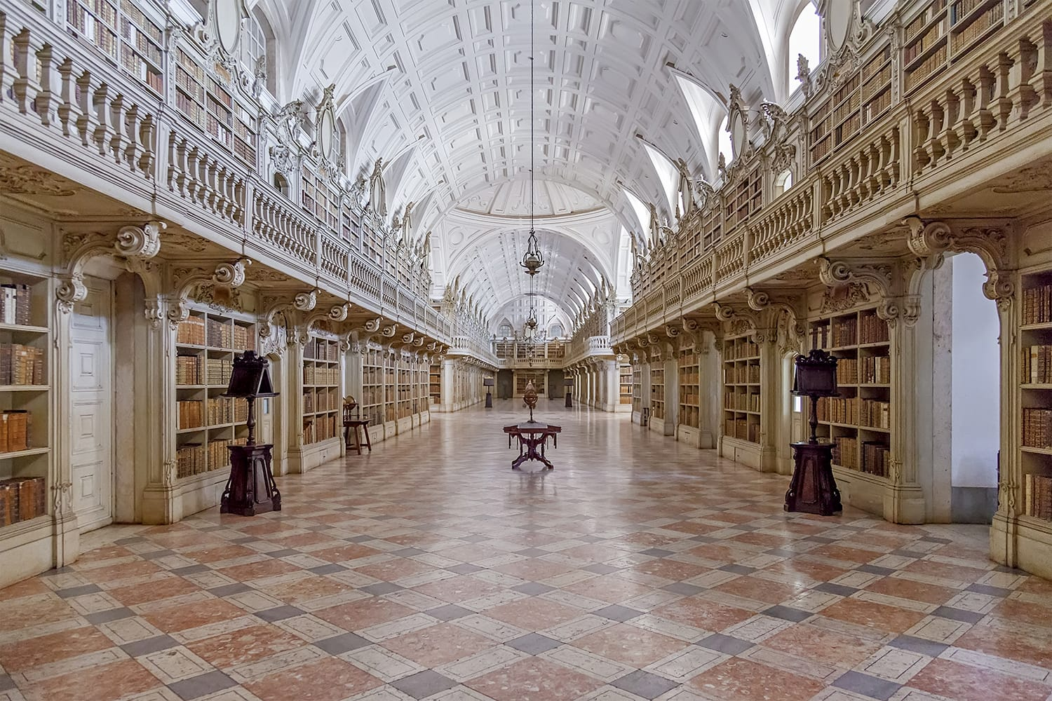Library of the Mafra National Palace in Portugal