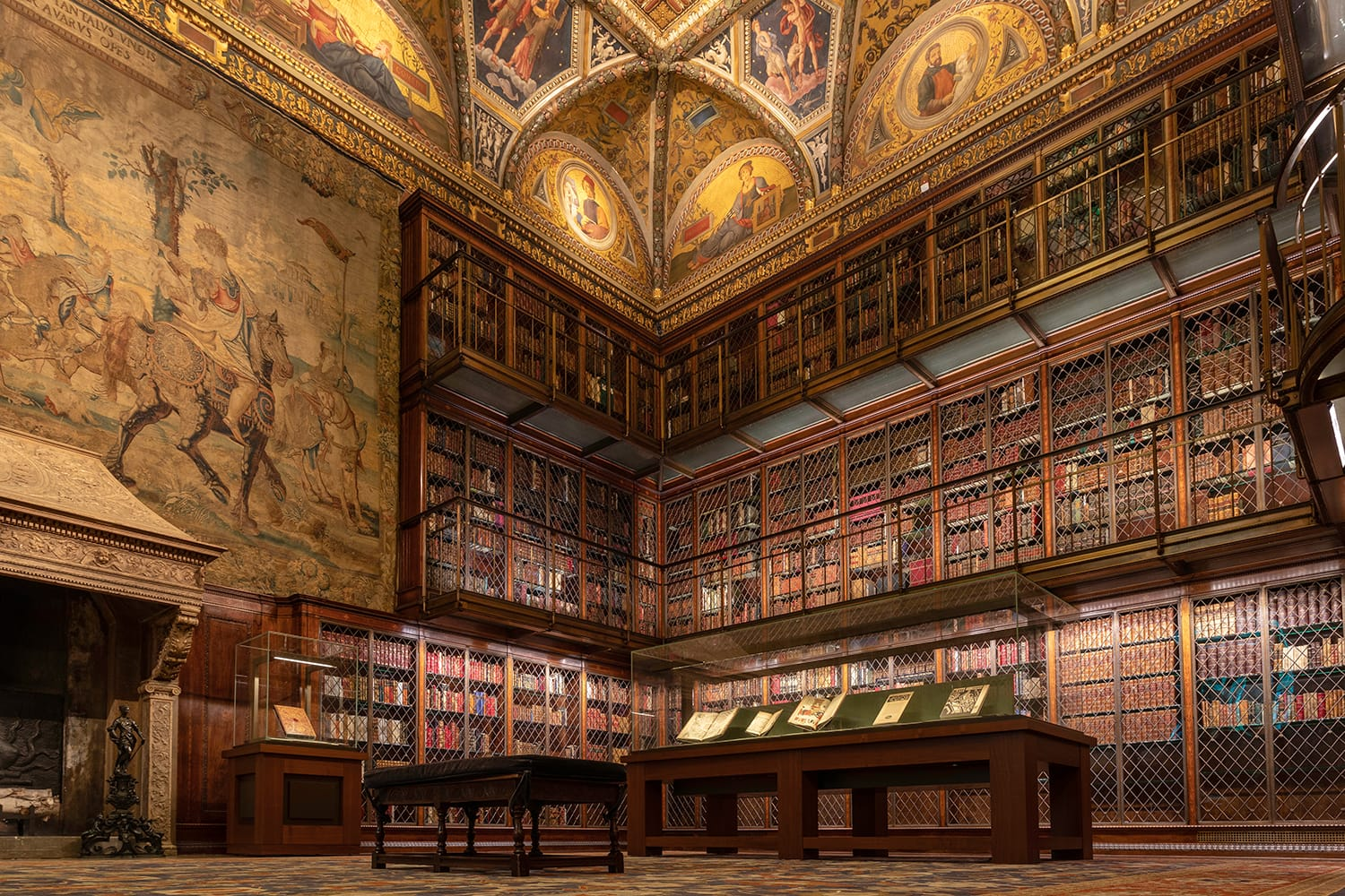 Inside the Pierpont Morgan library in New York City, USA