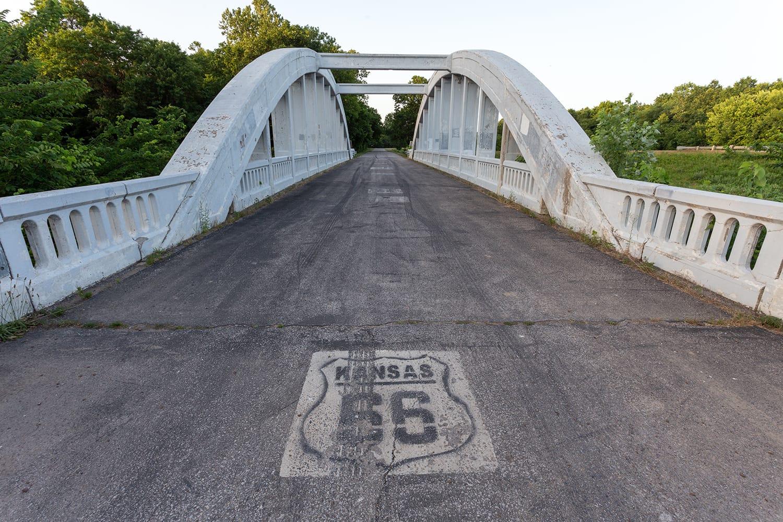 Rainbow Bridge on Route 66 in Kansas