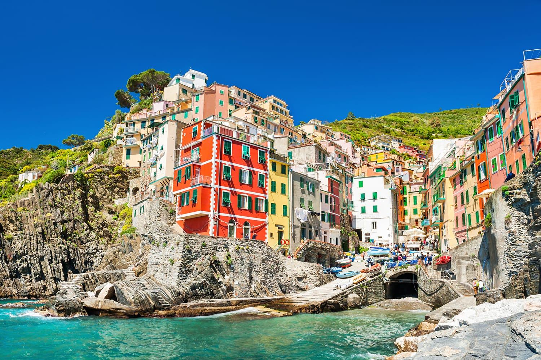 Beautiful view of Riomaggiore, Cinque Terre national park, Liguria, Italy