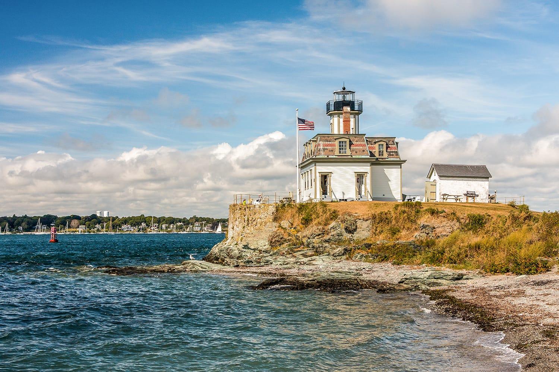 Rose Island Lighthouse, Newport, Rhode Island, USA
