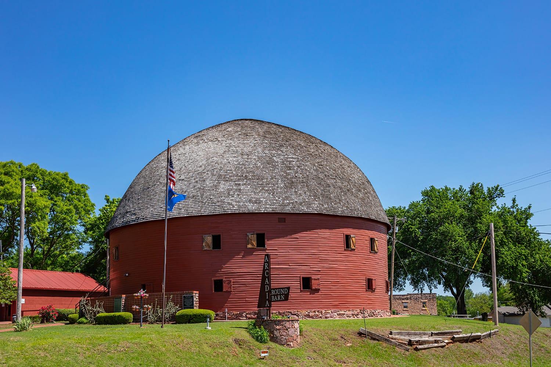 Arcadia round barn, a landmark next to route 66 in Oklahoma